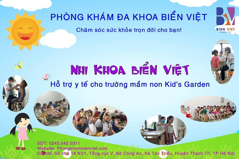 Khám sức khỏe định kỳ miễn phí cho các bé trường mầm non Kid's Garden – Hà Đông