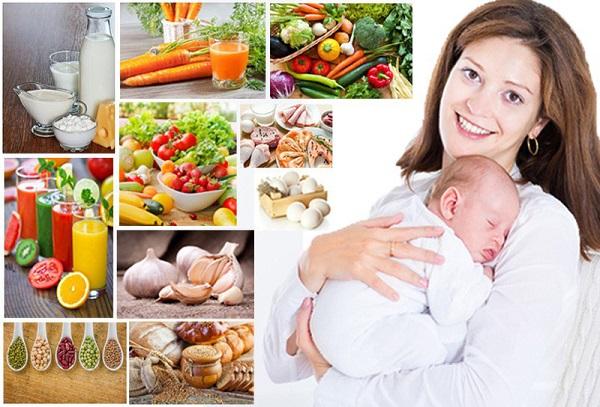 Thực đơn phù hợp với bà mẹ cho con bú theo khuyến cáo của Viện dinh dưỡng Quốc Gia